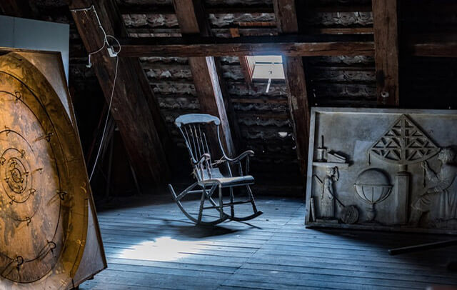 chair in attic